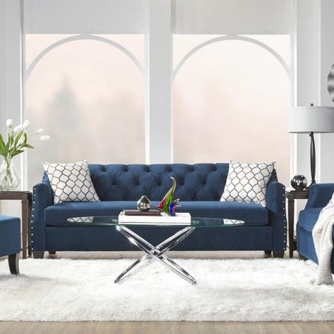 Bing Indigo Living Room Set, Living Room Set, Hughes Furniture - Adams Furniture