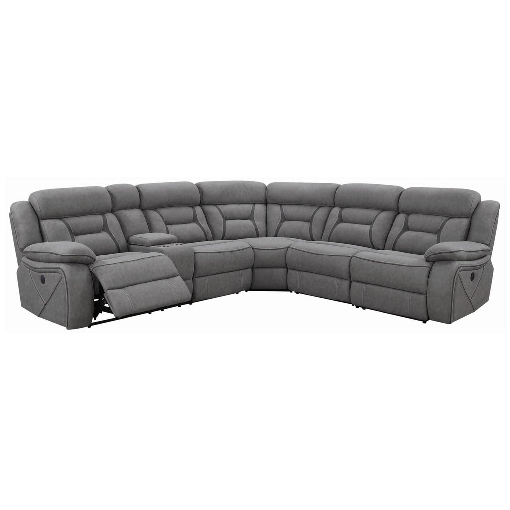 Higgins 4pc Power Reclining Sectional, Sectional, Coaster Furniture - Adams Furniture
