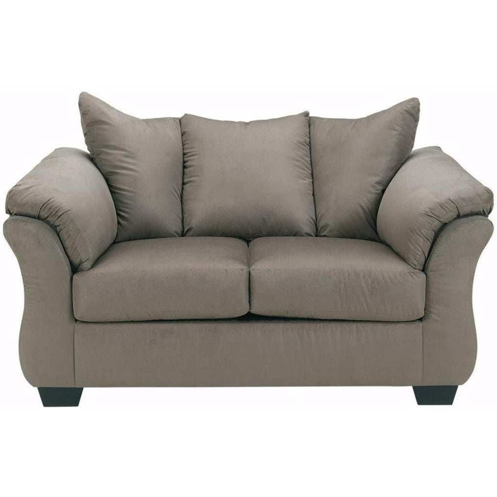 Darcy Cobblestone Loveseat, Loveseat, Ashley Furniture - Adams Furniture