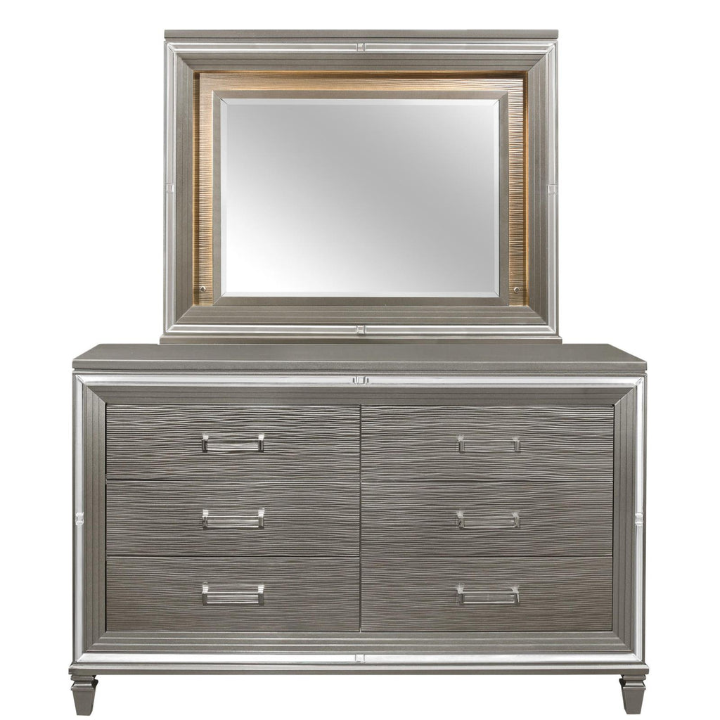 Tasmin Grey Dresser & Mirror, Dresser & Mirror, Homelegance - Adams Furniture