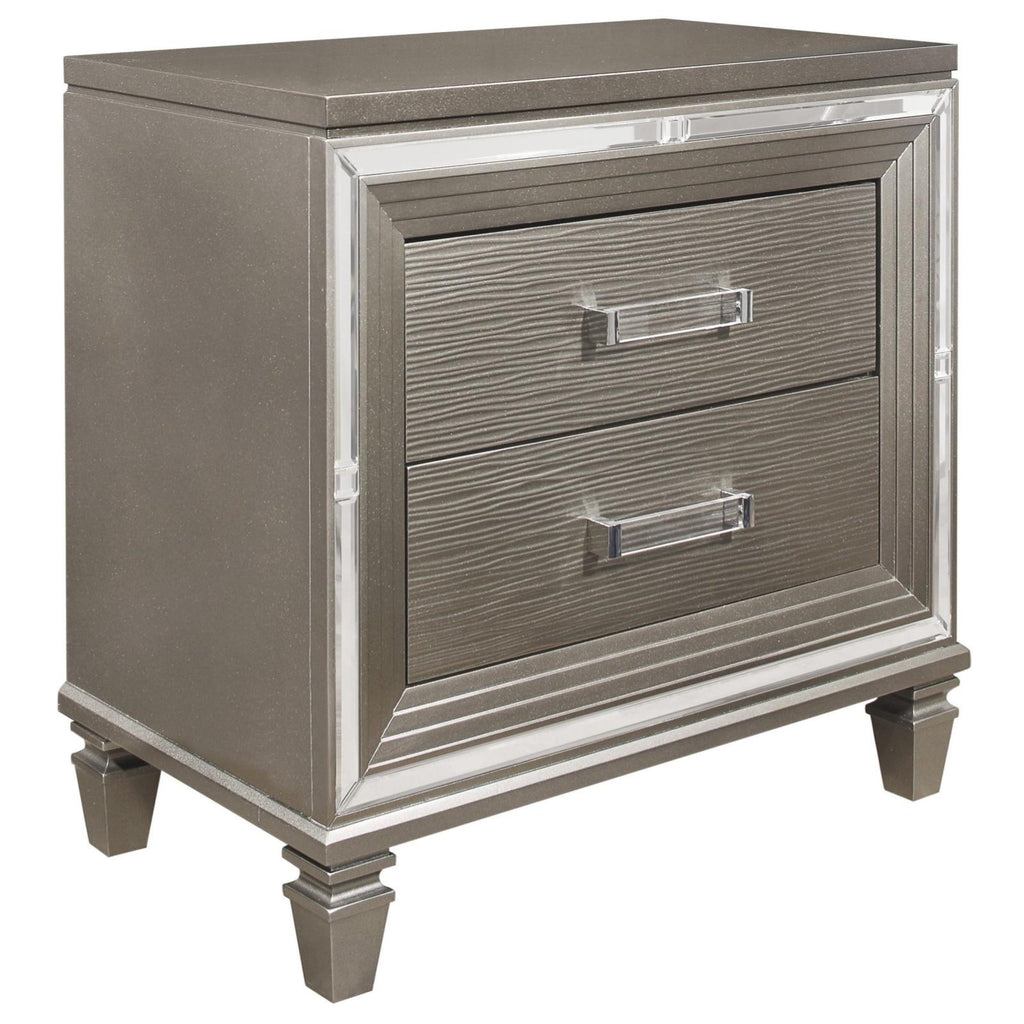 Tasmin Grey Nightstand, Nightstand, Homelegance - Adams Furniture