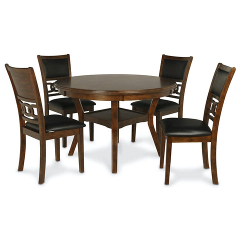 Gia Brown 5 Piece Dining Set, Dining Set, New Classic Furniture - Adams Furniture