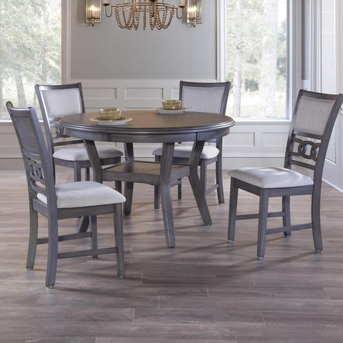 Gia Grey 5 Piece Dining Set, Dining Set, New Classic Furniture - Adams Furniture