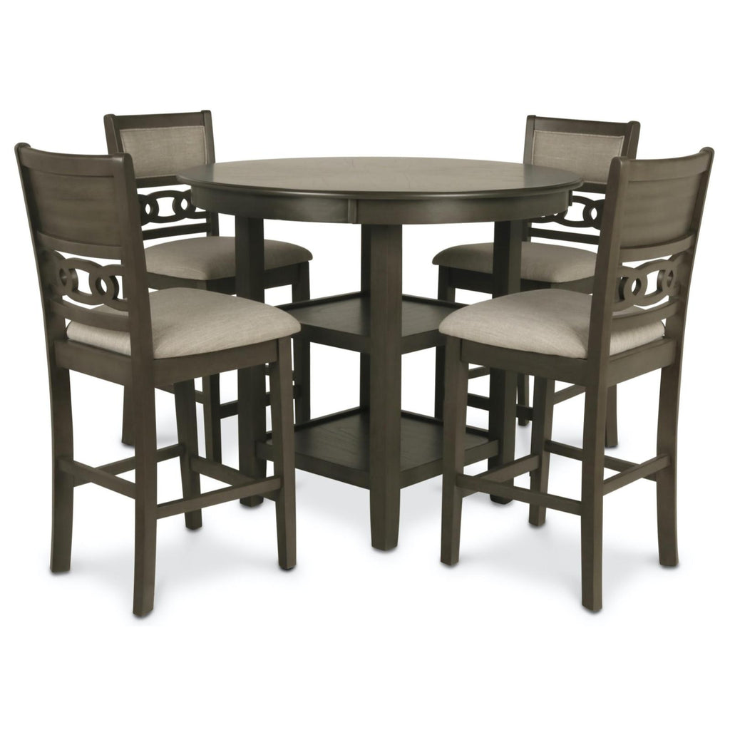 Gia Grey 5 Piece Counter Height Dining Set, Dining Set, New Classic Furniture - Adams Furniture