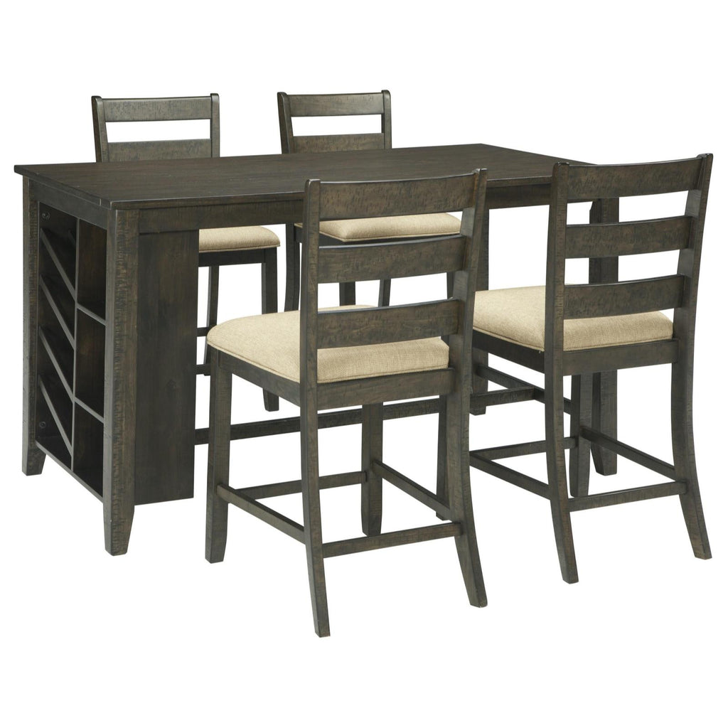 Rokane 5 Piece Counter Dining Set, Dining Set, Ashley Furniture - Adams Furniture