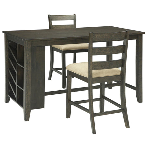 Rokane 3 Piece Counter Dining Set, Dining Set, Ashley Furniture - Adams Furniture