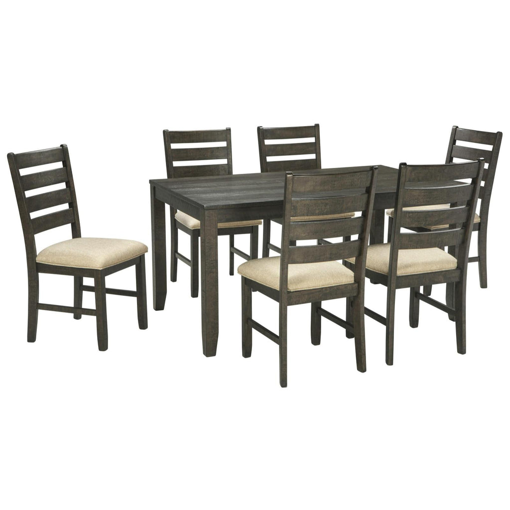 Rokane 7 Piece Dining Set, Dining Set, Ashley Furniture - Adams Furniture