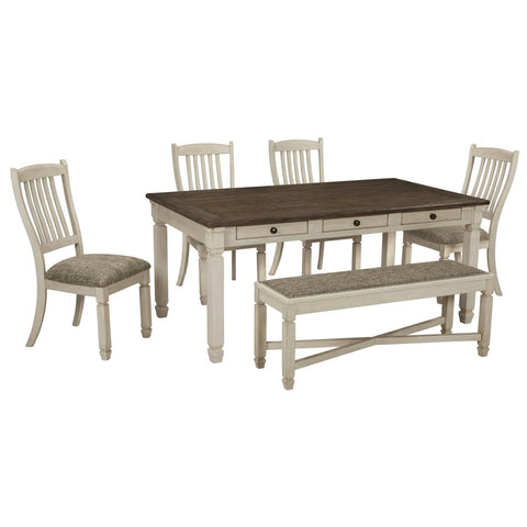 Bolanburg 6 Piece Dining Set, Dining Set, Ashley Furniture - Adams Furniture