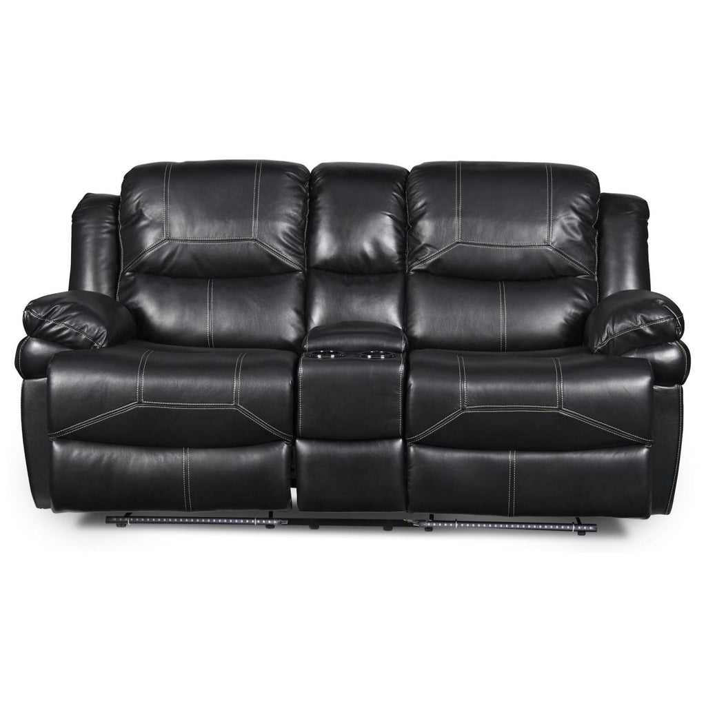 Flynn Reclining Console Loveseat, Loveseat, New Classic Furniture - Adams Furniture