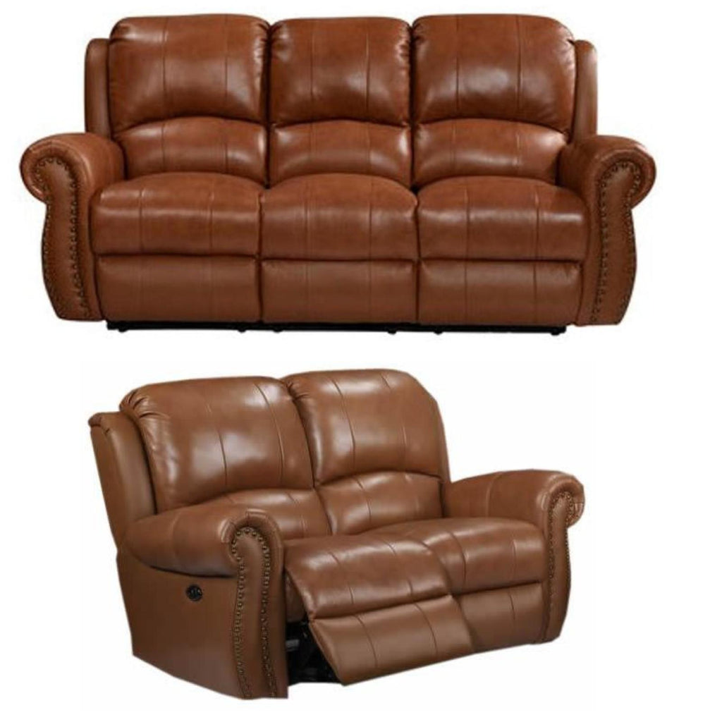 Howard Power Reclining Living Room Set, Living Room Set, Leather Italia - Adams Furniture