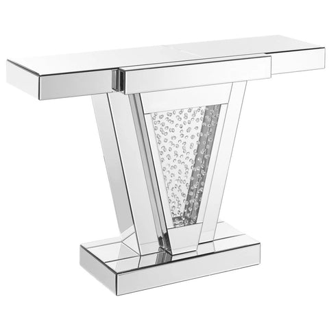 Nova Crystal Console Table, Occasional Tables, Elegant Lighting - Adams Furniture