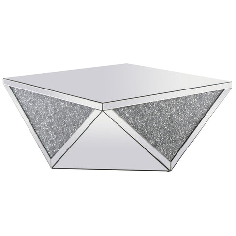 Hailey Crystal Coffee Table, Occasional Tables, Elegant Lighting - Adams Furniture