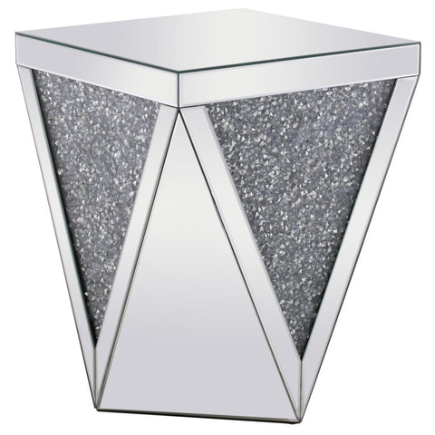 Hailey Crystal End Table, Occasional Tables, Elegant Lighting - Adams Furniture