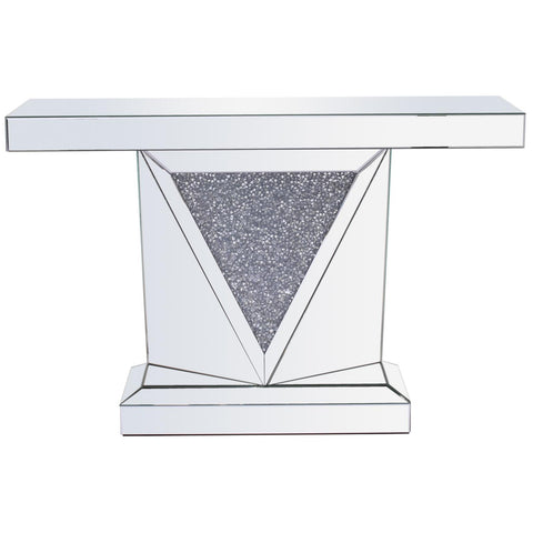 Hailey Crytal Console Table, Occasional Tables, Elegant Lighting - Adams Furniture