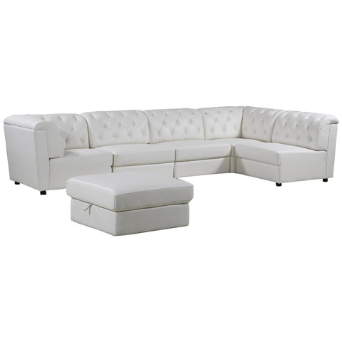 5 PC. Modular Sectional - White, Sectional, Grand Gold - Adams Furniture