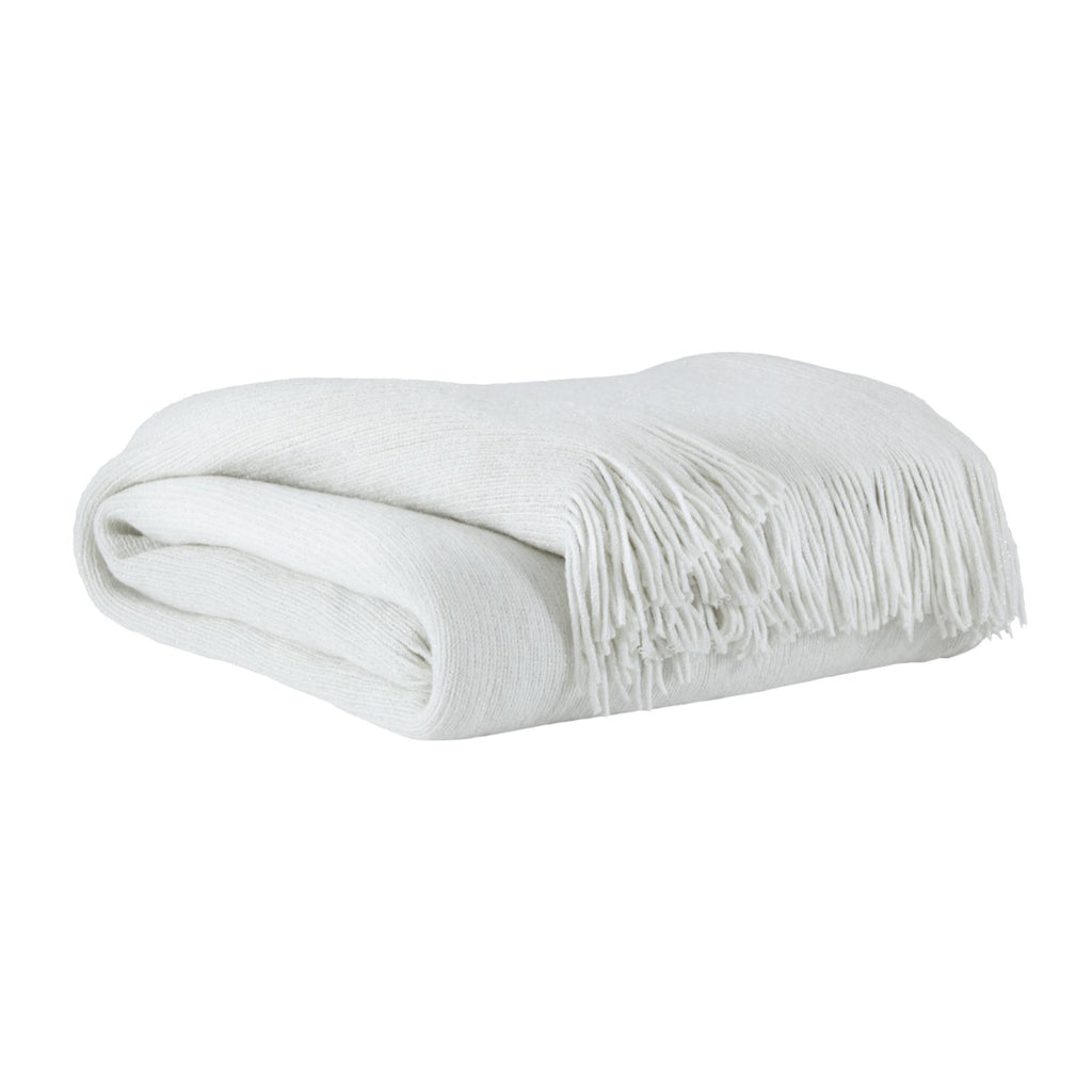 Rozelle White Throw, Throw, Ashley Furniture - Adams Furniture