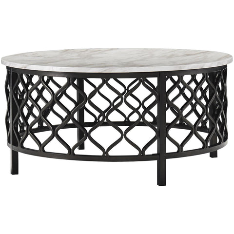Trinson Round Coffee Table, Occasional Tables, Ashley Furniture - Adams Furniture