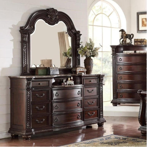 Stanley Dresser & Mirror, Dresser & Mirror, Crown Mark - Adams Furniture