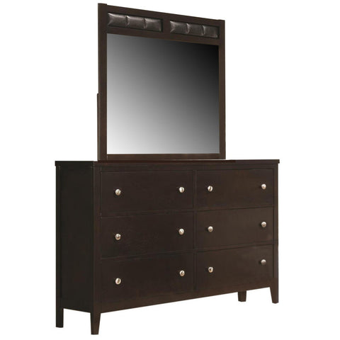 Carlton Dresser & Mirror, Dresser & Mirror, Coaster Furniture - Adams Furniture