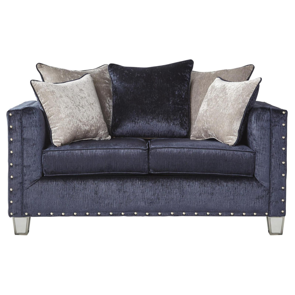 Bliss Midnight Loveseat, Loveseat, Hughes Furniture - Adams Furniture