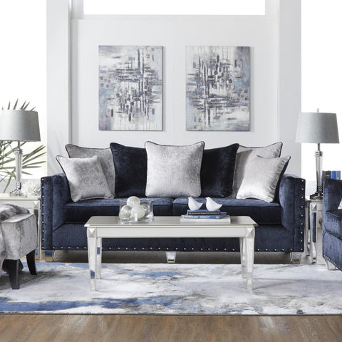 Bliss Midnight Living Room Set, Living Room Set, Hughes Furniture - Adams Furniture