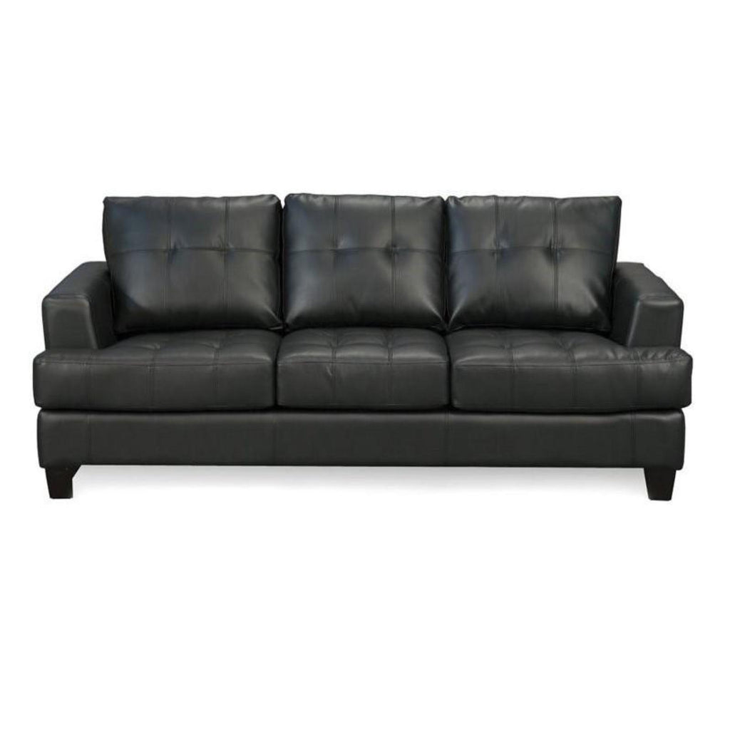 Samuel - Black Sofa, Sofa, Coaster Furniture - Adams Furniture