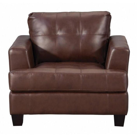 Samuel - Brown Chair, Accent Chair, Coaster Furniture - Adams Furniture