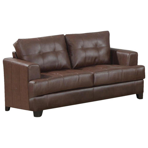 Samuel - Brown Loveseat, Loveseat, Coaster Furniture - Adams Furniture