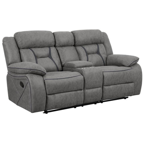 Houston Motion Console Loveseat, Loveseat, Coaster Furniture - Adams Furniture