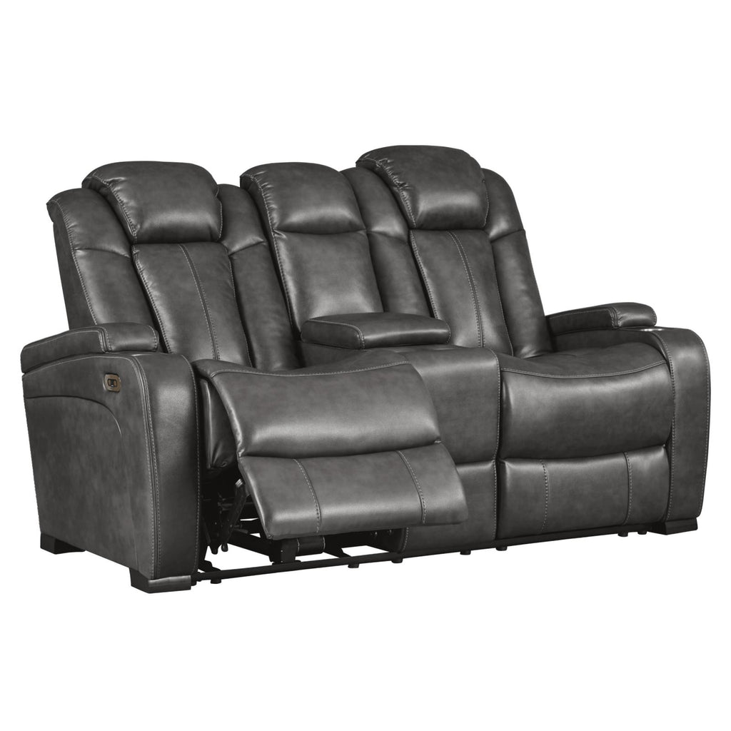 Turbulance Power Motion Console Loveseat, Loveseat, Ashley Furniture - Adams Furniture