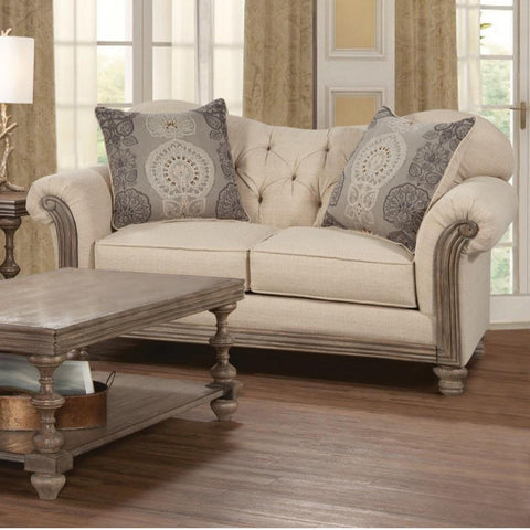 New Siam Loveseat, Loveseat, Hughes Furniture - Adams Furniture