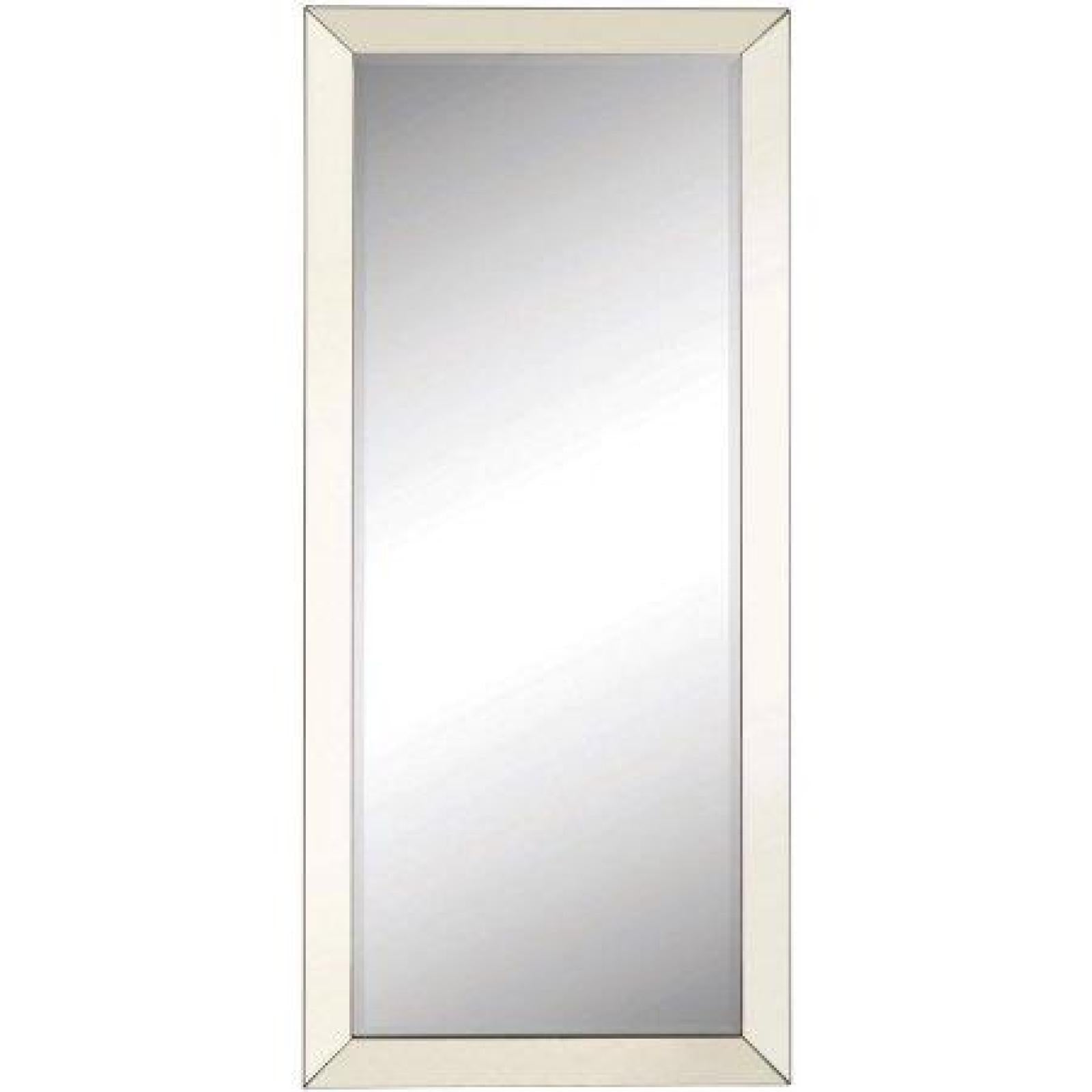 contemporary floor mirror with mirrored frame - Mirrored Frame
