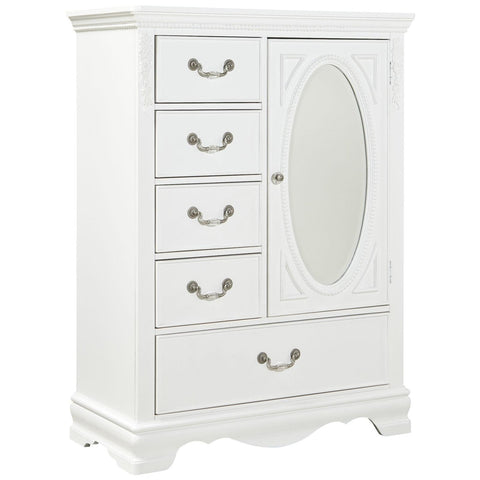 Jessica - White Wardrobe, Kids Bedroom, Standard Furniture - Adams Furniture