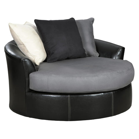 Jacurso Oversized Swivel Accent Chair, Accent Chair, Ashley Furniture - Adams Furniture
