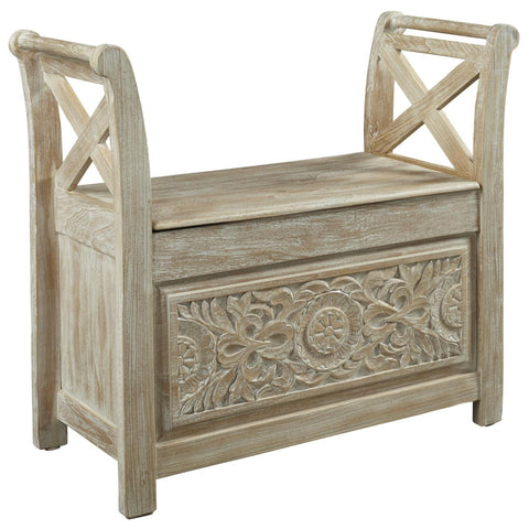 Fossil Ridge Accent Bench, Accent Bench, Ashley Furniture - Adams Furniture