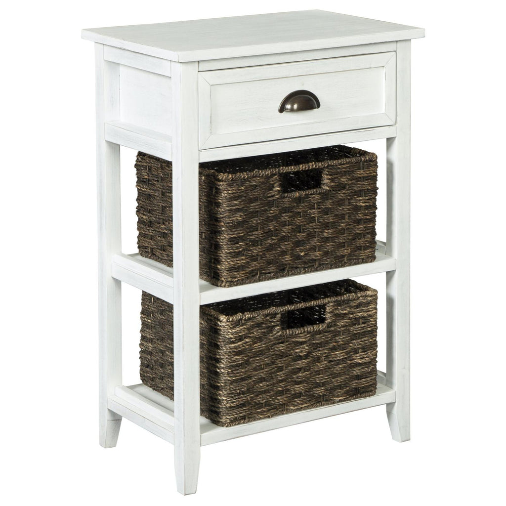 Oslember White Accent Table, Accent Table, Ashley Furniture - Adams Furniture
