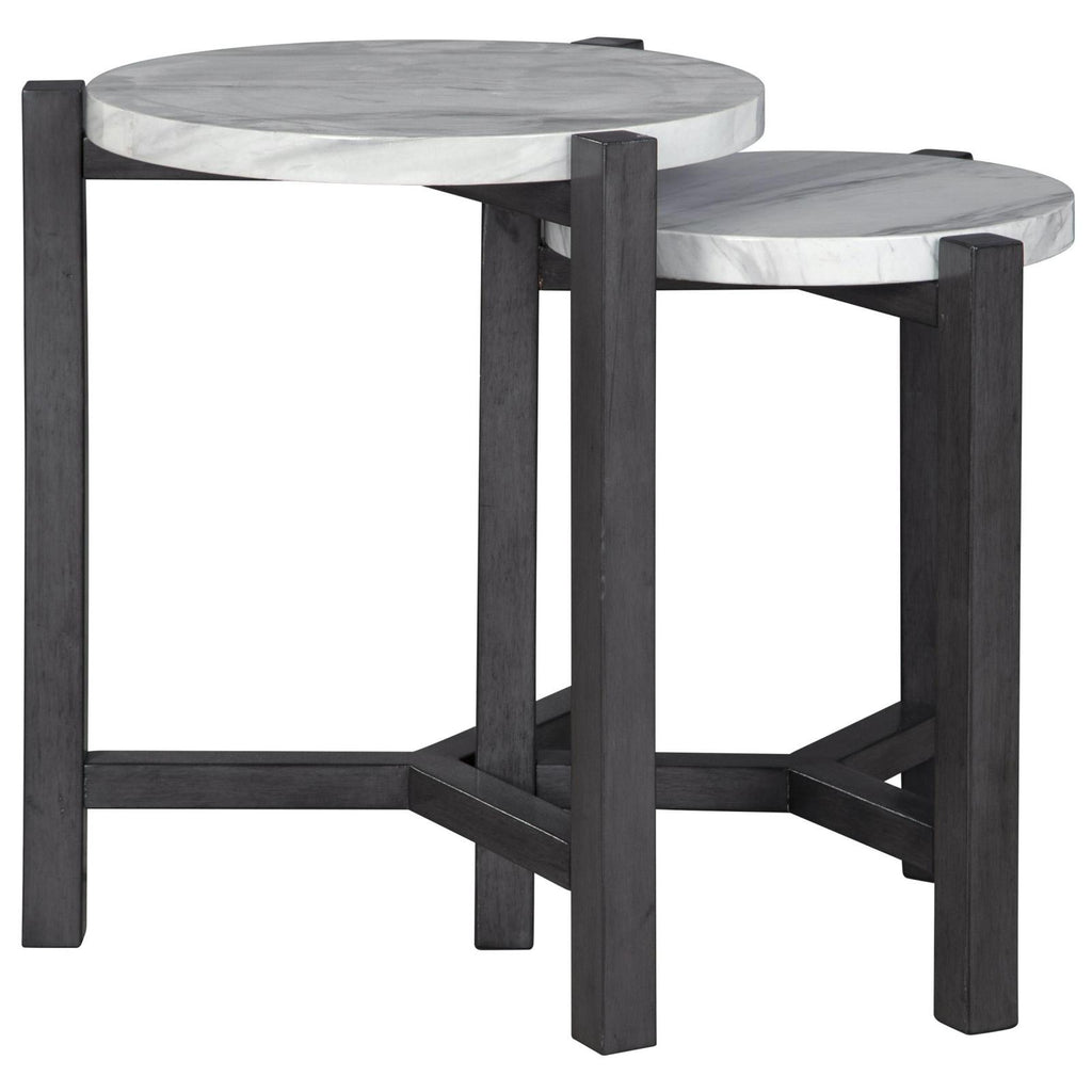 Crossport 2PC Accent Table Set, Accent Table, Ashley Furniture - Adams Furniture