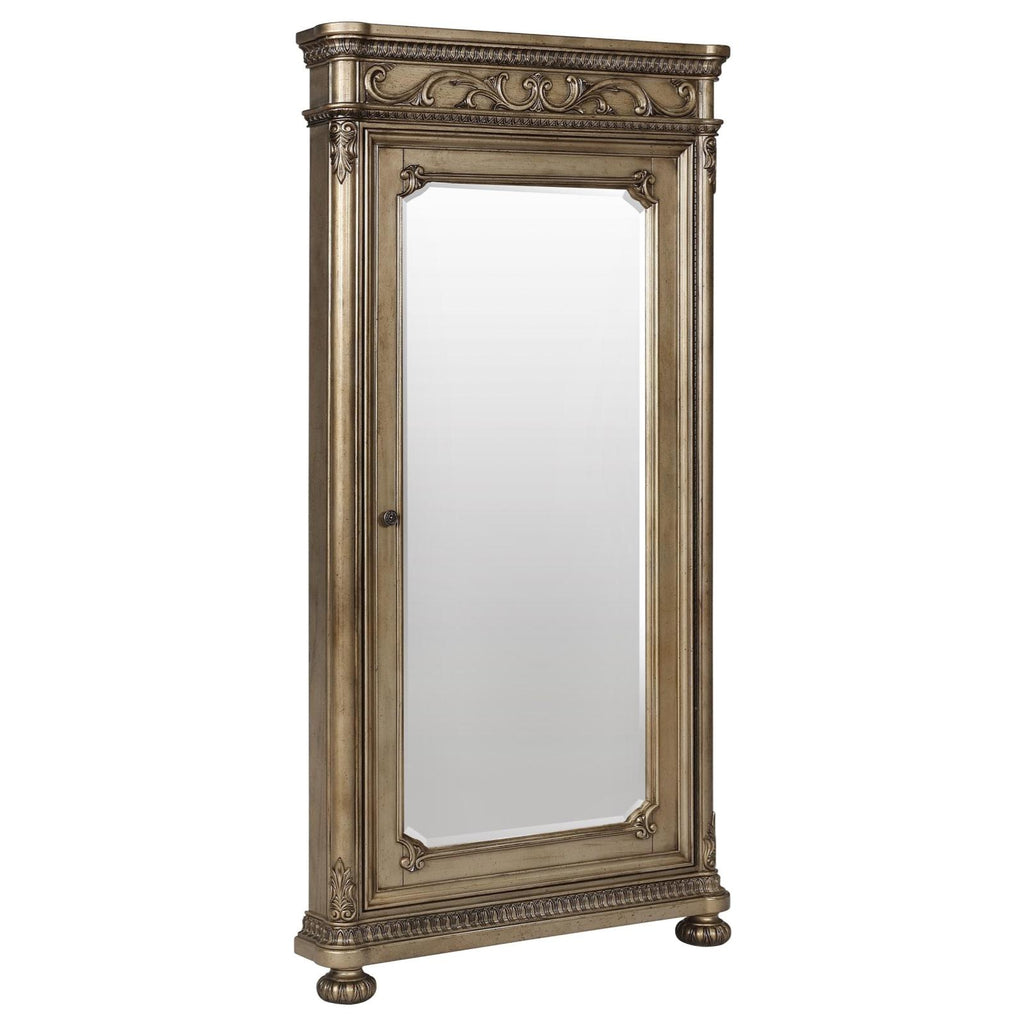Seville Storage Floor Mirror, Mirror, Avalon Furniture - Adams Furniture