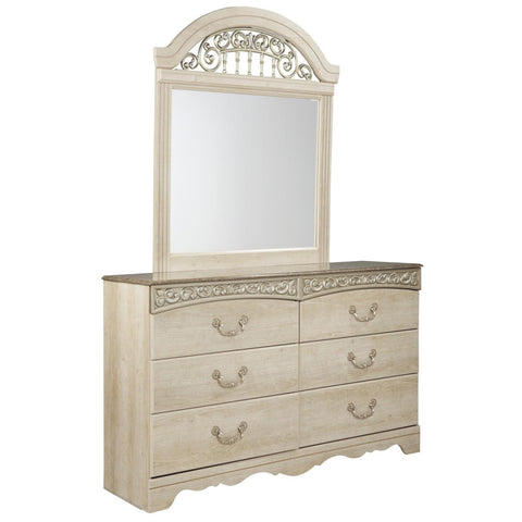 Catalina Dresser & Mirror, Dresser & Mirror, Ashley Furniture - Adams Furniture