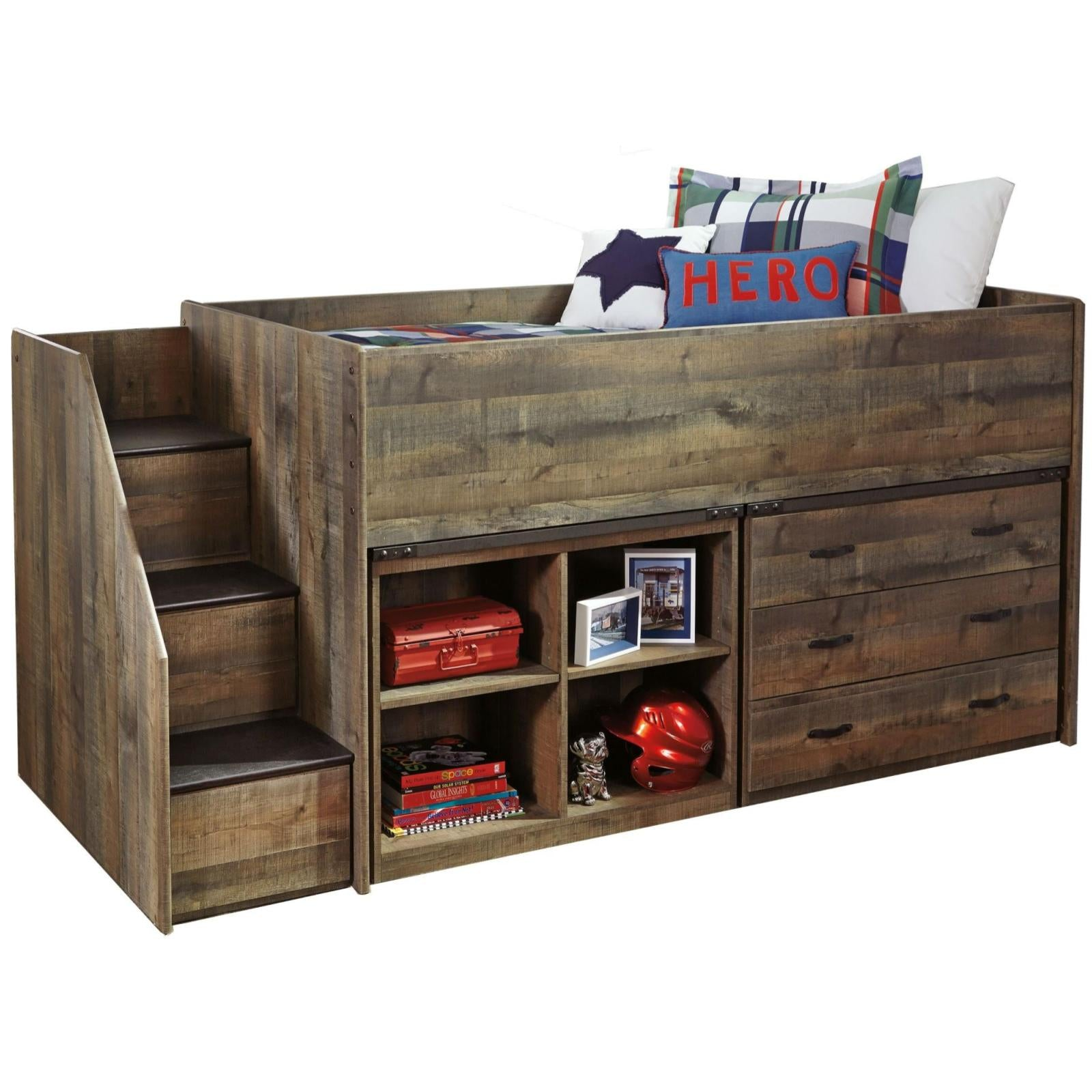 Image of: Trinell Loft Bed With Storage Adams Furniture