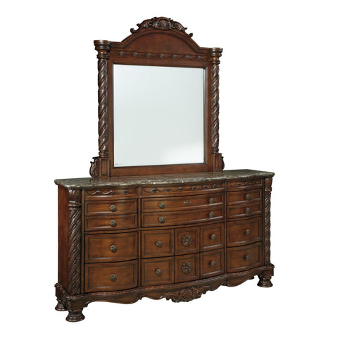North Shore Dresser & Mirror, Dresser & Mirror, Ashley Furniture - Adams Furniture