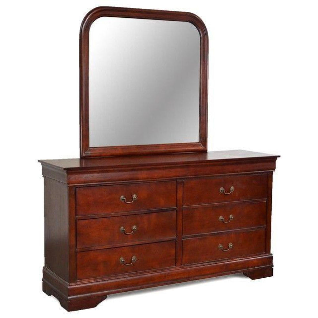 Louis Philippe Dresser & Mirror, Dresser & Mirror, LIFESTYLE - Adams Furniture