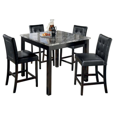 Maysville 5 Piece Counter Height Dining Set, Dining Set, Ashley Furniture - Adams Furniture