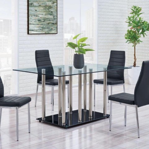 Leah 5 Piece Modern Dining Set, Dining Set, Global Furniture - Adams Furniture