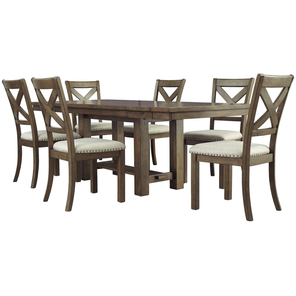 Moriville 7 Piece Dining Set, Dining Set, Ashley Furniture - Adams Furniture