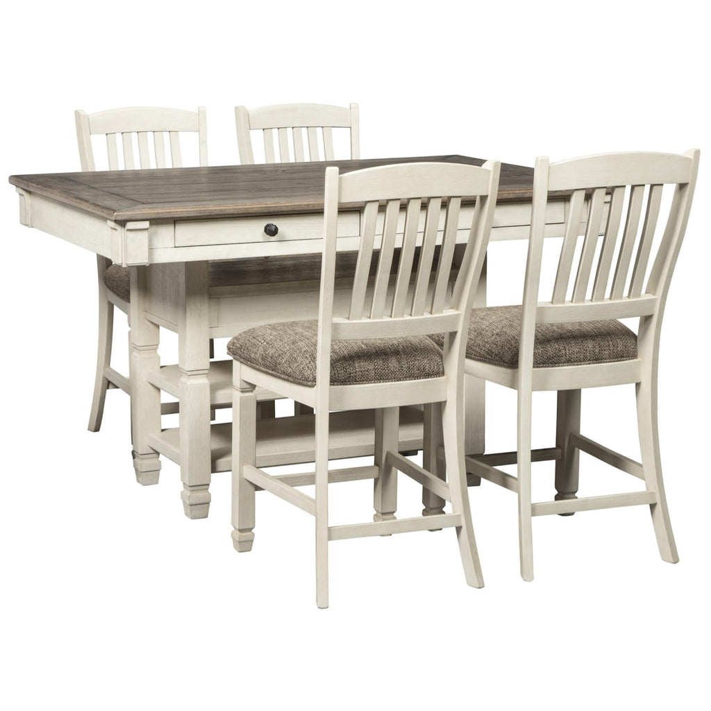 Bolanburg 5 Piece Counter Height Dining Set, Dining Set, Ashley Furniture - Adams Furniture