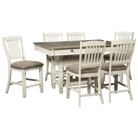 Bolanburg 7 Piece Counter Height Dining Set, Dining Set, Ashley Furniture - Adams Furniture