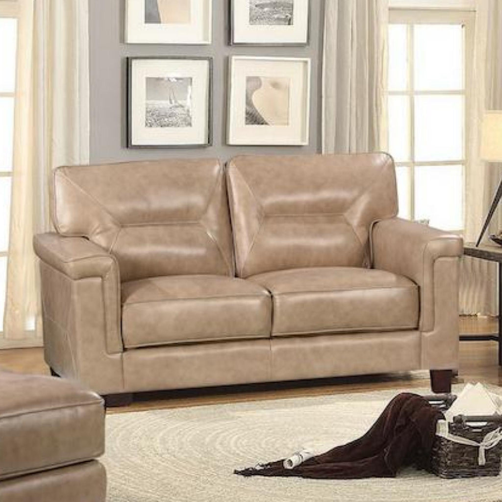 Demoine Loveseat, Loveseat, Leather Italia - Adams Furniture