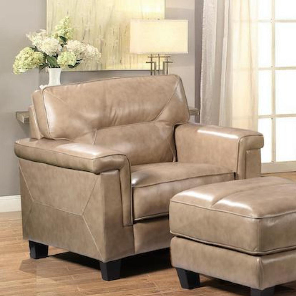 Demoine Chair, Accent Chair, Leather Italia - Adams Furniture
