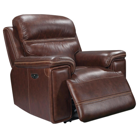 Fresno Power Recliner w/ Power Headrest, Recliner, Leather Italia - Adams Furniture